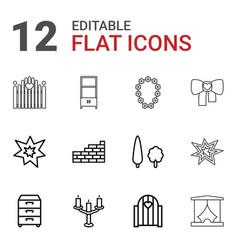 decor icons vector image