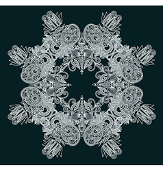 decorative snowflake vector image