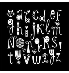 English alphabet Black background vector image
