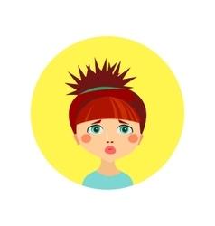 Female face avatar profile head vector image