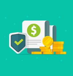 financial guarantees money insurance protection vector image