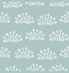floral simple seamless pattern with grass plants vector image