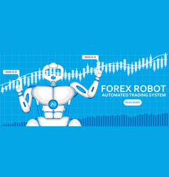forex trading robot with ai android vector image