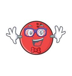 Geek bowling ball character cartoon vector