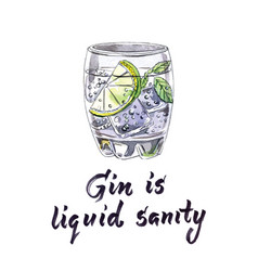 gin is liquid sanity vector image