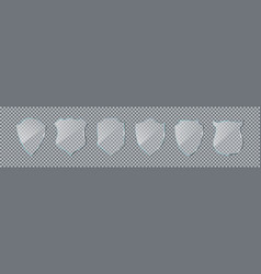 glass shield acrylic plexiglass shields vector image