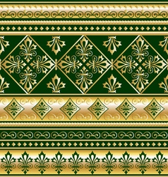 gold royal ornament vector image