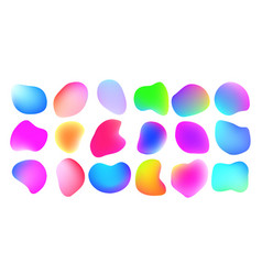 Gradient liquid color abstract fluid shapes color vector
