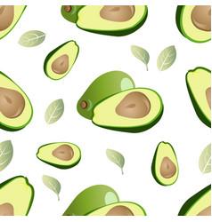 Green avacado seamless pattern vector