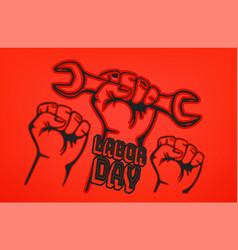 Happy labor day card vector