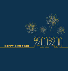 happy new year 2020 with gradient text vector image