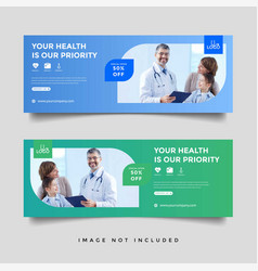 Healthcare medical banner promotion template vector