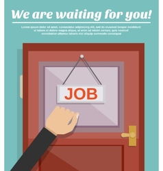 Job Search Concept vector image