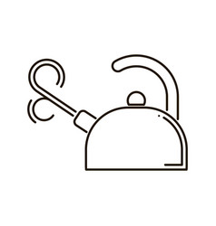 kettle in line art style icon vector image