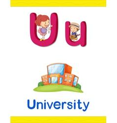 Learning alphabet u vector