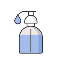 Liquid soap shampoo or shower bath filled outlin vector