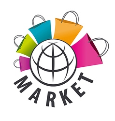 Logo purchases of goods all over the world vector