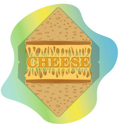 logo two toasts and melted cheese between them vector image