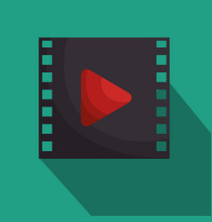 Media film tape icon vector