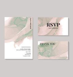 Modern pastel beige and green pastel watercolor vector