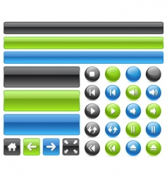 music web buttons vector image