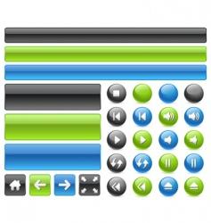 Music web buttons vector