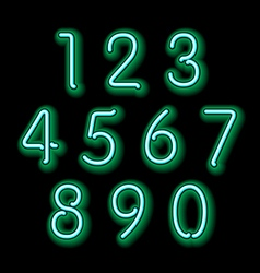 Numerical figures in sparkling neon colors vector image