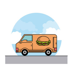 Orders and food deliveries vector
