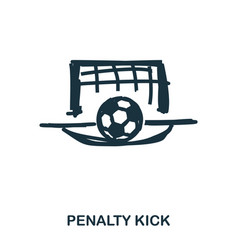 Penalty kick icon mobile apps printing and more vector