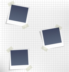 Photo frames for infographic on paper in a cage vector
