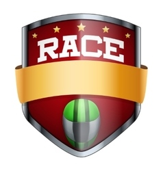 Racing shield badge vector