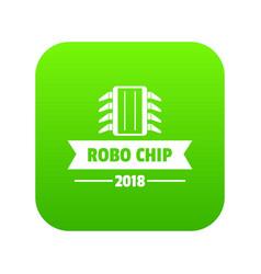 robo chip icon green vector image