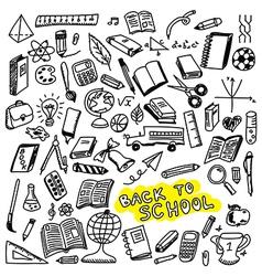 School icons sketch vector image