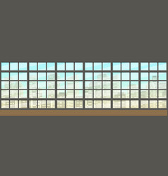 Seamless interior background with windows panorama vector
