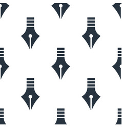 seamless pen pattern education symbol from icon vector image