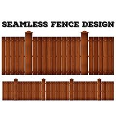 Seamless wooden fence design vector