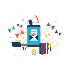 Send or receive email marketing business vector