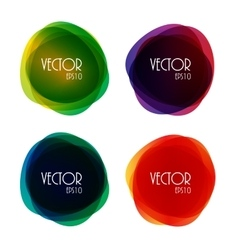 Set of Round Circle Colorful Shapes vector image