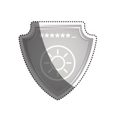 shield security password code vector image