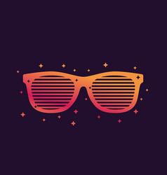shutter sunglasses shades vector image