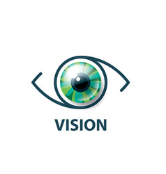 sign in the shape of the eye vector image