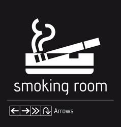 smoking room sign door area stiker men vector image