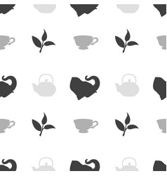 tea shop seamless pattern vector image