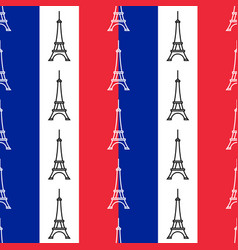 the eiffel tower seamless pattern vector image