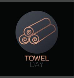 Towel day icon design vector