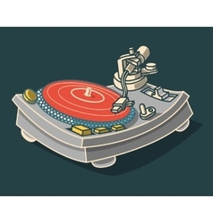 Turntable Graphic vector