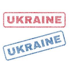 Ukraine textile stamps vector