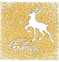 white deer on gold vector image
