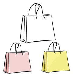 Womens handbag for shopping eps10 vector