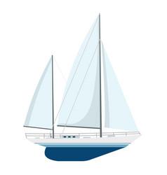 yacht sailboat or sailing ship vector image